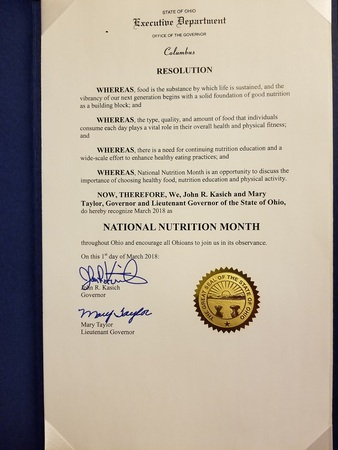 National Nutrition Month Resolution
